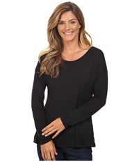Exofficio Wanderlux Ballet Neck Black Women's Long Sleeve Pullover