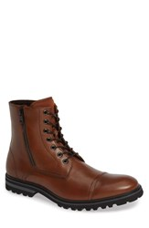 Kenneth Cole Reaction Daxten Mixed Media Boot Cognac Leather