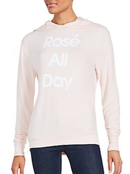 Wildfox Couture Rose All Day Hoodie Blush