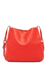 Christopher Kon Unlined Leather Crossbody Red