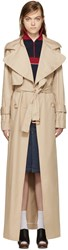 See By Chloe Beige Long Trench Coat