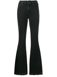 Golden Goose Deluxe Brand High Waisted Flared Jeans Black