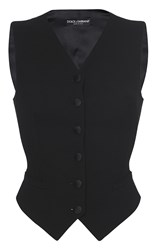 Dolce And Gabbana Tailored Suit Vest Black