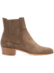 Louis Leeman Ankle Boots Calf Leather Calf Suede Brown