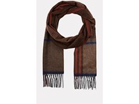 Colombo Men's Plaid Cashmere Flannel Scarf Brown