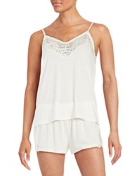 Flora By Flora Nikrooz Lace Knit Cami Tap Set Ivory