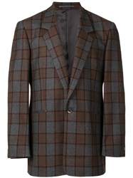 E. Tautz Single Breasted Jacket Brown