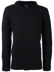 Ann Demeulemeester Chunky Knit Oversized Sweater Black