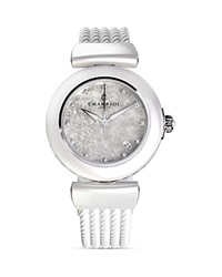 Charriol Ael Crystal Round Steel Watch 33Mm White