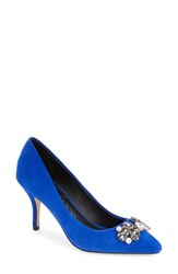 Women's Sole Society 'Eri' Embellished Pump Bright Blue Suede