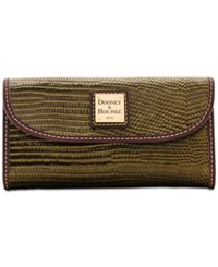 Dooney And Bourke Lizard Embossed Continental Wallet A Macy's Exclusive Style Olive