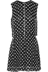 Mcq By Alexander Mcqueen Polka Dot Chiffon Mini Dress Black