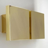 Tango Lighting Square 2G Low Energy Wall Light Black Gold White