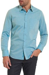 Robert Graham Men's Groves Tailored Fit Sport Shirt Teal