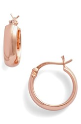Argentovivo Argento Vivo Small Curved Hoop Earrings Rose Gold