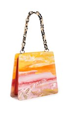 Edie Parker Abstract Sunset Hardshell Bag Pink Multi