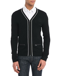 Ikks Black Zipped Cardigan