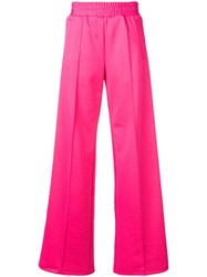 Off White Side Stripe Detail Trousers Pink