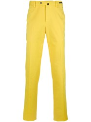 Pt01 Slim Fit Trousers Men Cotton Spandex Elastane 48 Yellow Orange