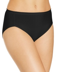 Vanity Fair Cooling Touch High Cut Brief 13124 Midnight Black