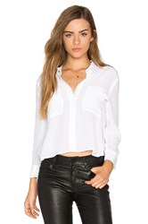 Equipment Cropped Signature Button Up White