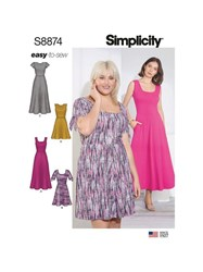 Simplicity Misses' 'S Easy To Sew Knit Dress Sewing Pattern 8874