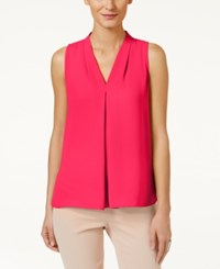 Vince Camuto Inverted Pleat Blouse Pop Pink