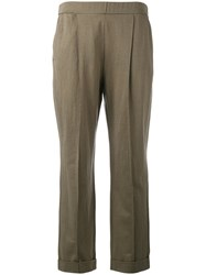 Dorothee Schumacher Slouch Trousers Brown