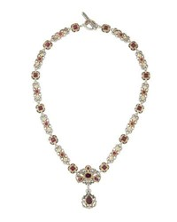 Konstantino Artemis Statement Rhodolite Station Necklace Purple
