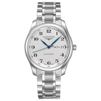 Longines L27554786 Men's Master Collection Automatic Day Date Bracelet Strap Watch Silver