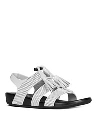Fitflop Gladdie Tm Perforated Ankle Strap Sandals White