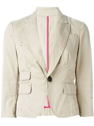 Dsquared2 Single Button Blazer Nude And Neutrals