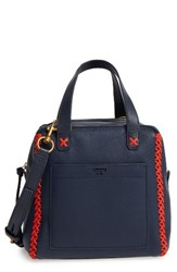 Tory Burch Mini Whipstitch Leather Satchel Blue Tory Navy