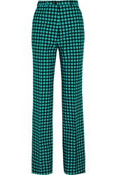 Bottega Veneta Polka Dot Wool Wide Leg Pants