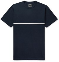 Todd Snyder Striped Cotton Jersey T Shirt Blue