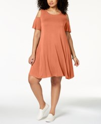Styleandco. Style Co Plus Size Relaxed Cold Shoulder Dress Created For Macy's Rose Sand