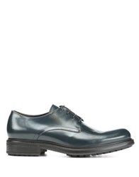 Donald J Pliner Leather Lace Up Oxfords Petrol