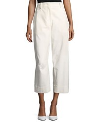 Cedric Charlier Cropped Corduroy Pants White