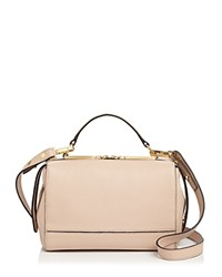 Milly Astor Soft Leather Satchel Nude Gold