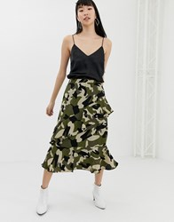 B.Young Camo Wrap Skirt Multi