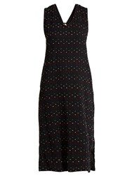 Ace And Jig Hot Cross Sleeveless Fil Coupe Cotton Dress Black Multi