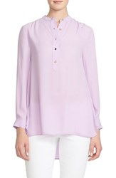 Women's Cece By Cynthia Steffe Band Collar Blouse Violet Fem