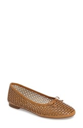 Louise Et Cie Women's Congo Perforated Flat True Tan Leather