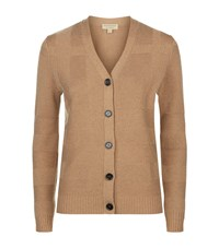 Burberry Check Effect Cardigan Female Brown