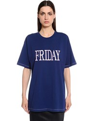 Alberta Ferretti Friday Oversized Jersey T Shirt