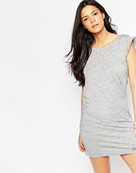 Bench Sleeveless T Shirt Dress With Rouched Side And Cowl Back Grey