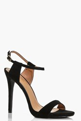 Boohoo Ankle Band Two Part Sandal Black