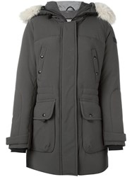 Peuterey Concealed Fastening Mid Coat Green