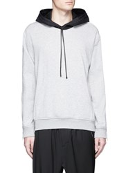 3.1 Phillip Lim Zip Sleeve Cotton Hoodie Grey