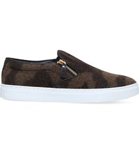 Kg By Kurt Geiger Andy Camouflage Print Skate Shoes Green Oth